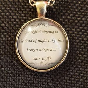 Jewelry - ♡2/$7 or 4/$10♡ Beatles Lyrics Necklace